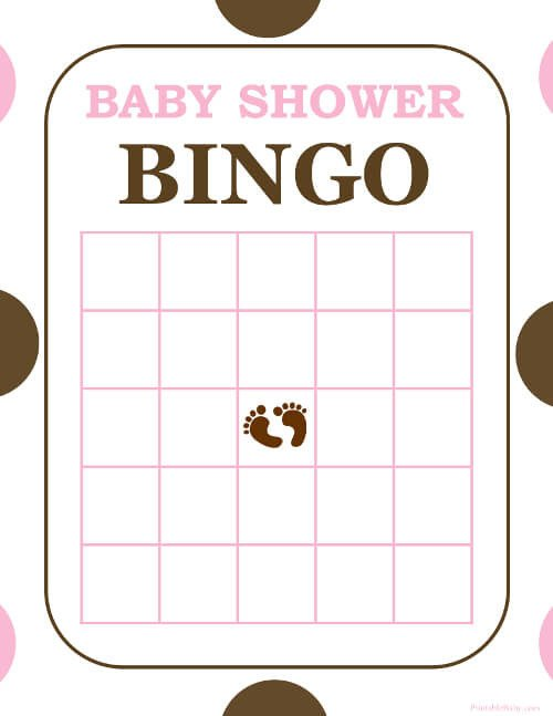 Baby Shower Bingo Template Free and Printable Baby Shower Bingo Card