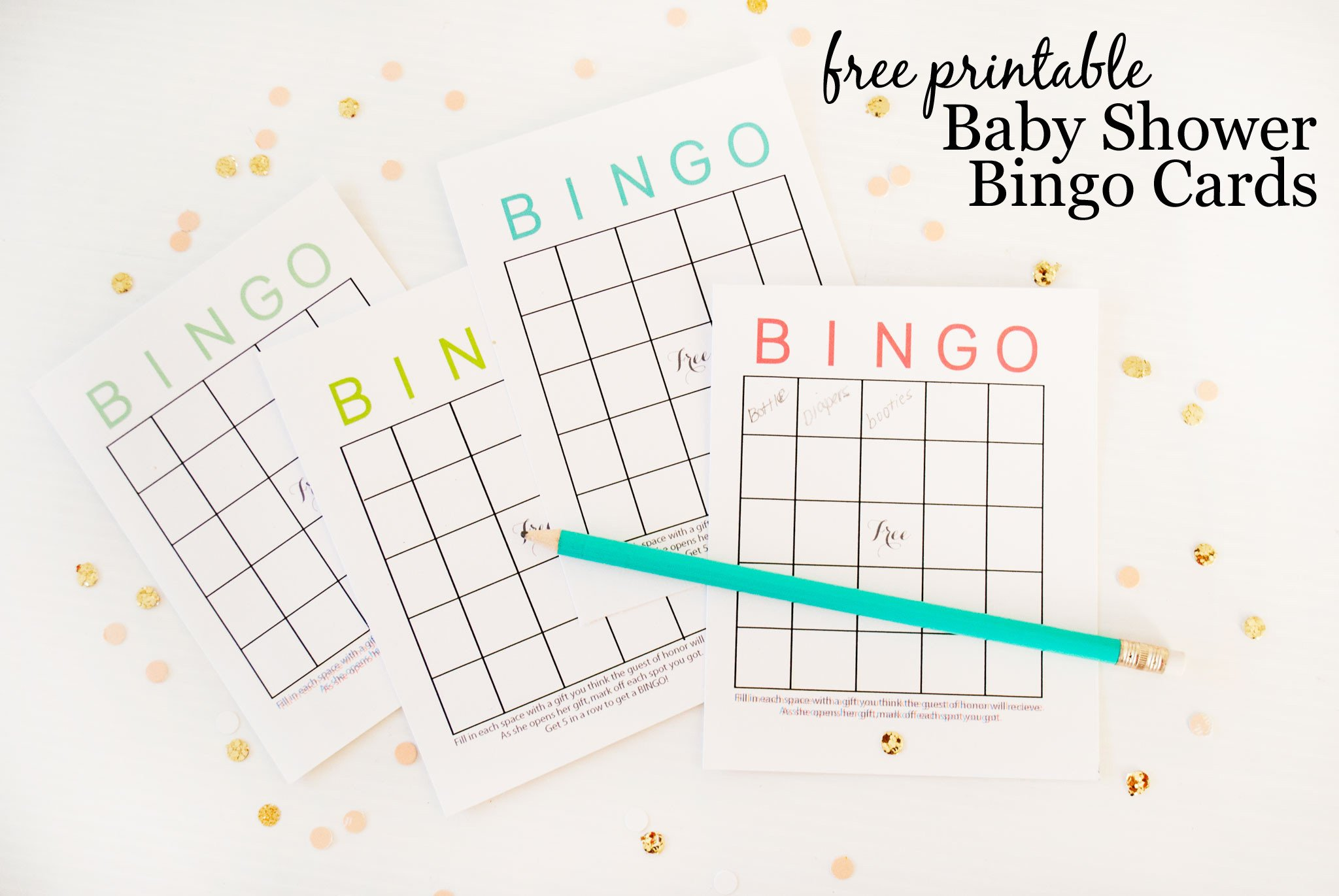 Baby Shower Bingo Template Free Printable Baby Shower Bingo Cards Project Nursery