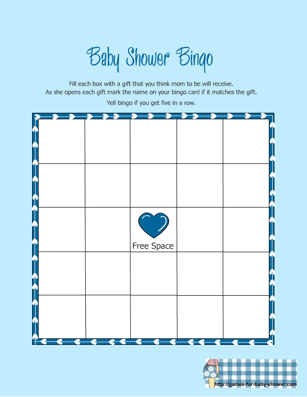 Baby Shower Bingo Template Free Printable Baby Shower Gift Bingo Game