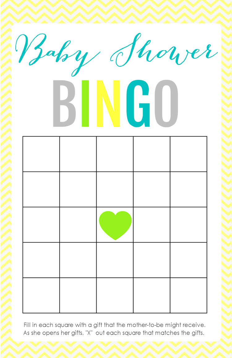 Baby Shower Bingo Template Printable Baby Shower Games the Girl Creative