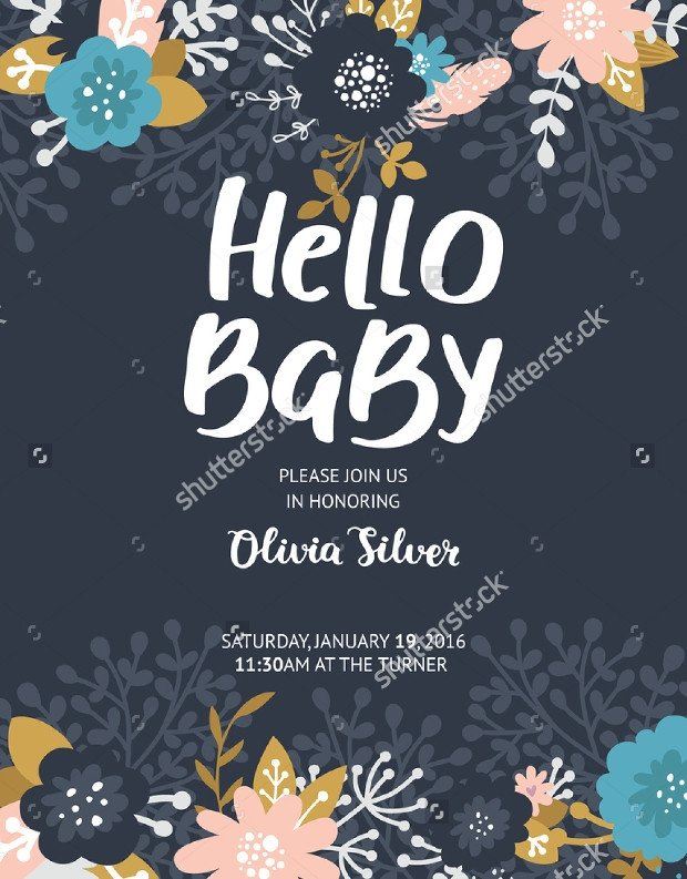 Baby Shower Flyers Template 16 Baby Shower Flyer Templates Printable Psd Ai