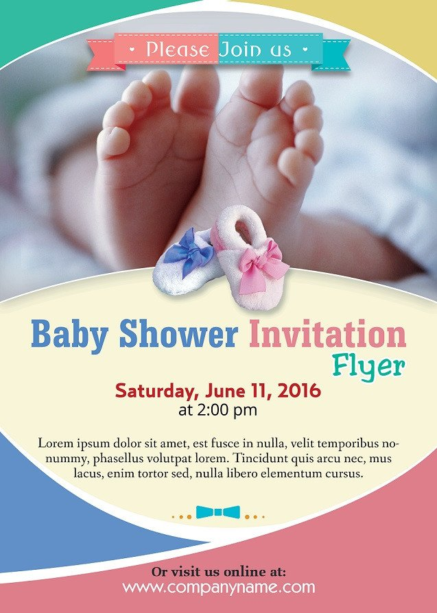 Baby Shower Flyers Template Baby Shower Flyer Template Shop Version Free