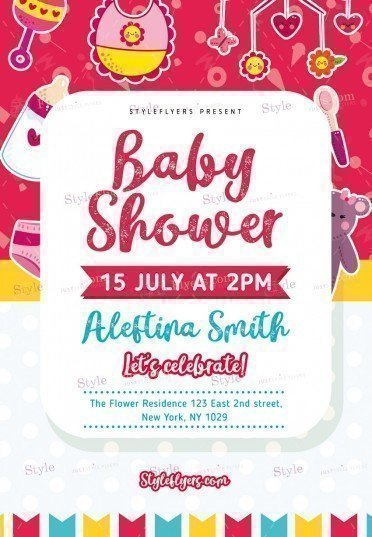 Baby Shower Flyers Template Baby Shower Psd Flyer Template Styleflyers