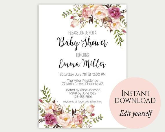Baby Shower Invitation Template Baby Shower Invitation Template Baby Shower Invite Baby
