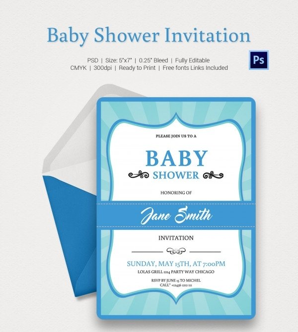 Baby Shower Invitations Templates Editable Baby Shower Invitation Template 22 Free Psd Vector Eps