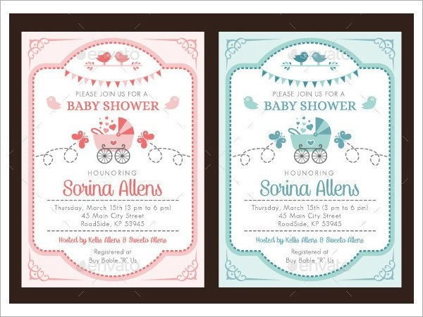 Baby Shower Invite Template Word 25 Sample Printable Baby Shower Invitation Templates