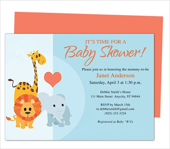 Baby Shower Invite Template Word 50 Microsoft Invitation Templates Free Samples