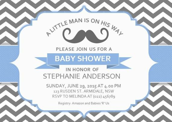 Baby Shower Invite Template Word Diy Printable Ms Word Baby Shower Invitation Template by
