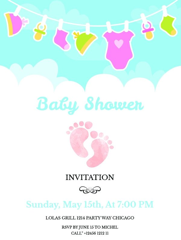 Baby Shower Invite Templates 59 Unique Baby Shower Invitations
