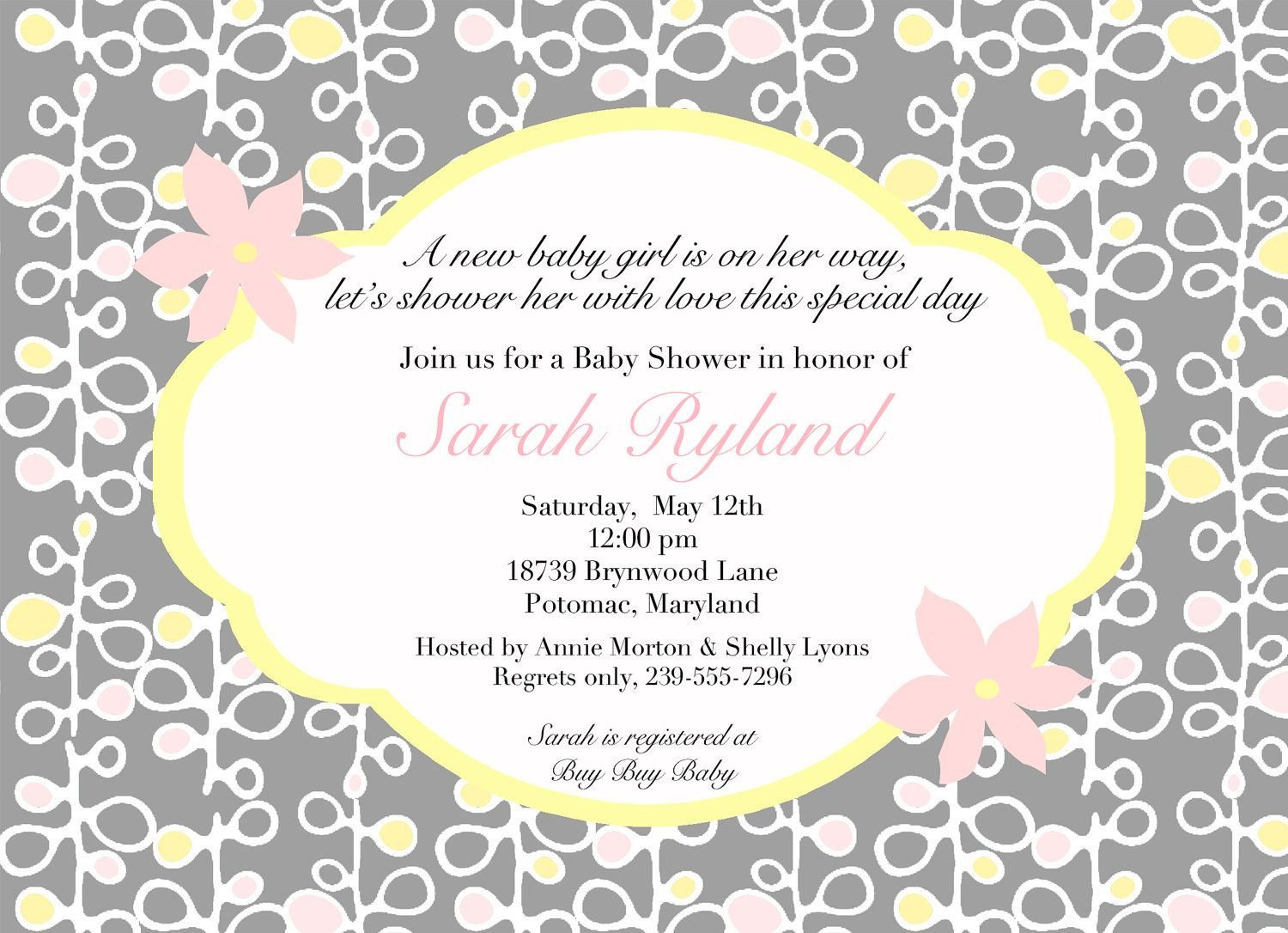 Baby Shower Invite Templates Download Free Template Baby Shower Invitation Wordings