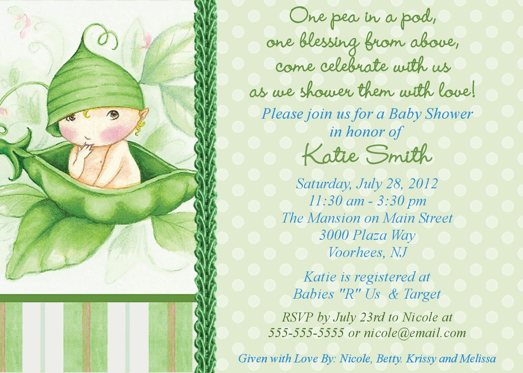 Baby Shower Invite Templates Free Line Baby Shower Invitations
