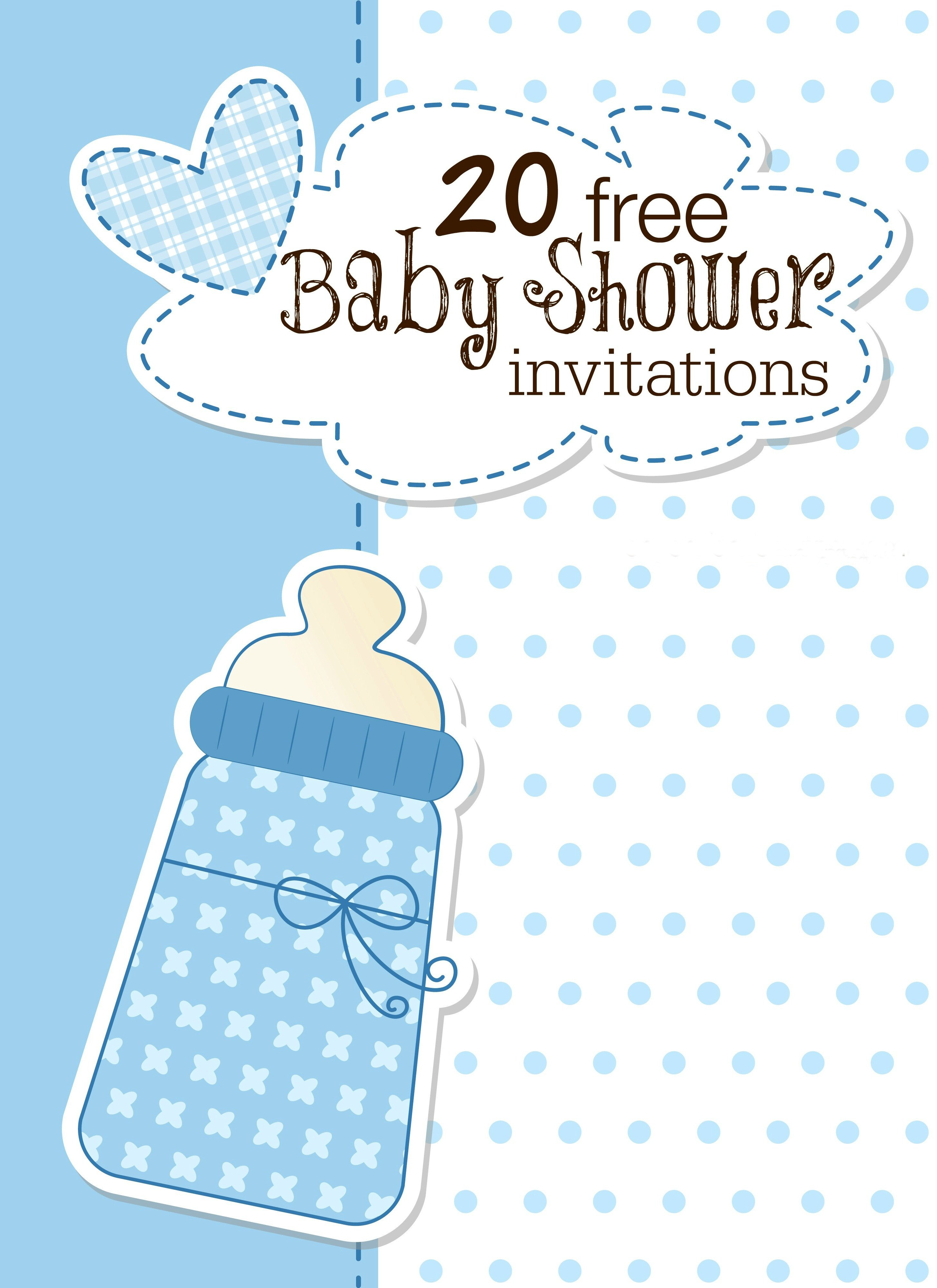 Baby Shower Invite Templates Printable Baby Shower Invitations