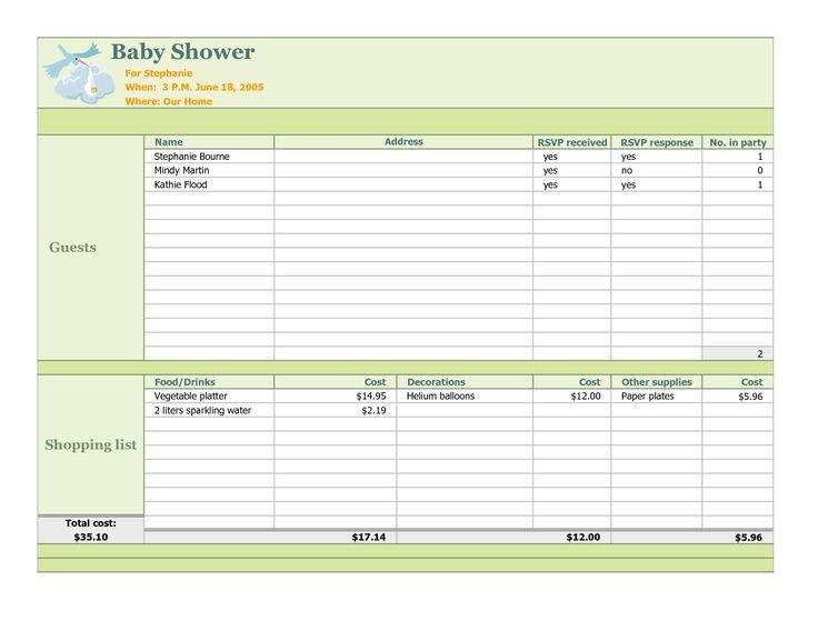 Baby Shower Planner Template Baby Shower Planning Checklist