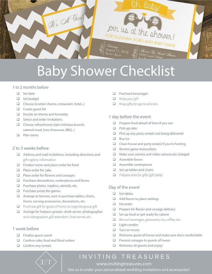 Baby Shower Planning Checklist Best 25 Baby Shower Checklist Ideas On Pinterest