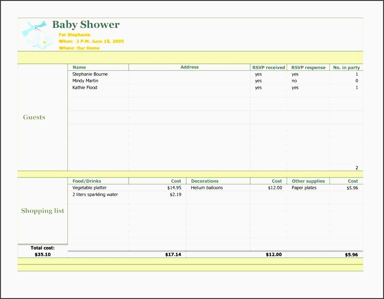 Baby Shower Planning Template 6 Baby Shower Planner Printable Sampletemplatess