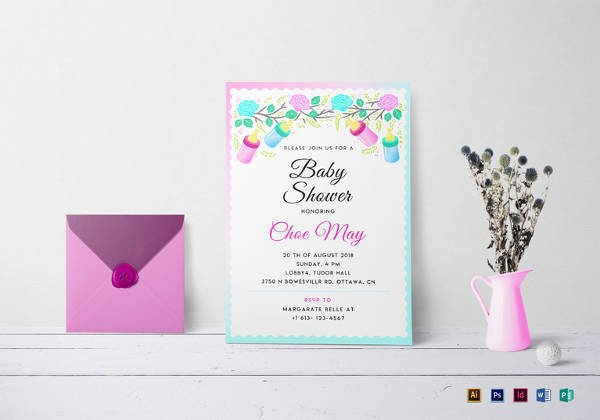 Baby Shower Template Word 69 Microsoft Invitation Templates Word