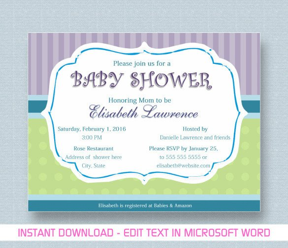 Baby Shower Template Word Baby Shower Invitation Template 29 Free Psd Vector Eps