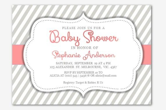 Baby Shower Template Word Diy Editable Microsoft Word Baby Girl Shower by Inkpower