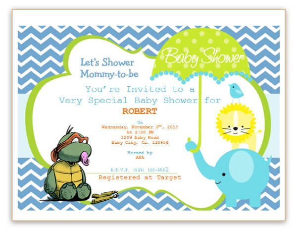 Baby Shower Template Word Free Printable Baby Shower Flyers Template