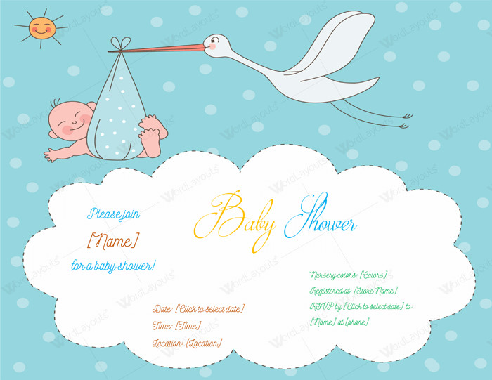 Baby Shower Template Word Use A Baby Shower Invitation Template 5 Printable Designs
