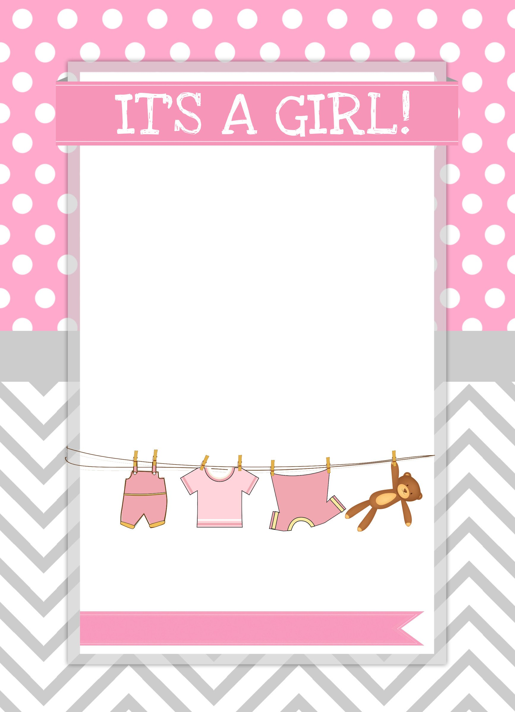 Baby Shower Templates Girl Baby Girl Shower Free Printables How to Nest for Less™