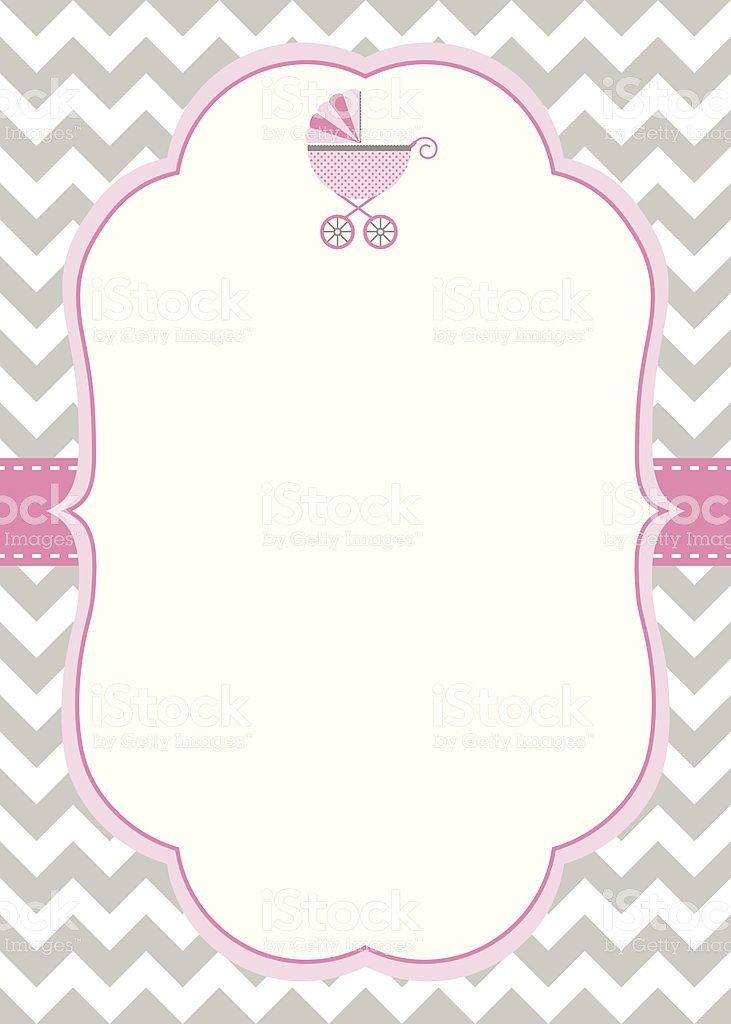 Baby Shower Templates Girl Baby Girl Shower Invitation Template Stock Illustration