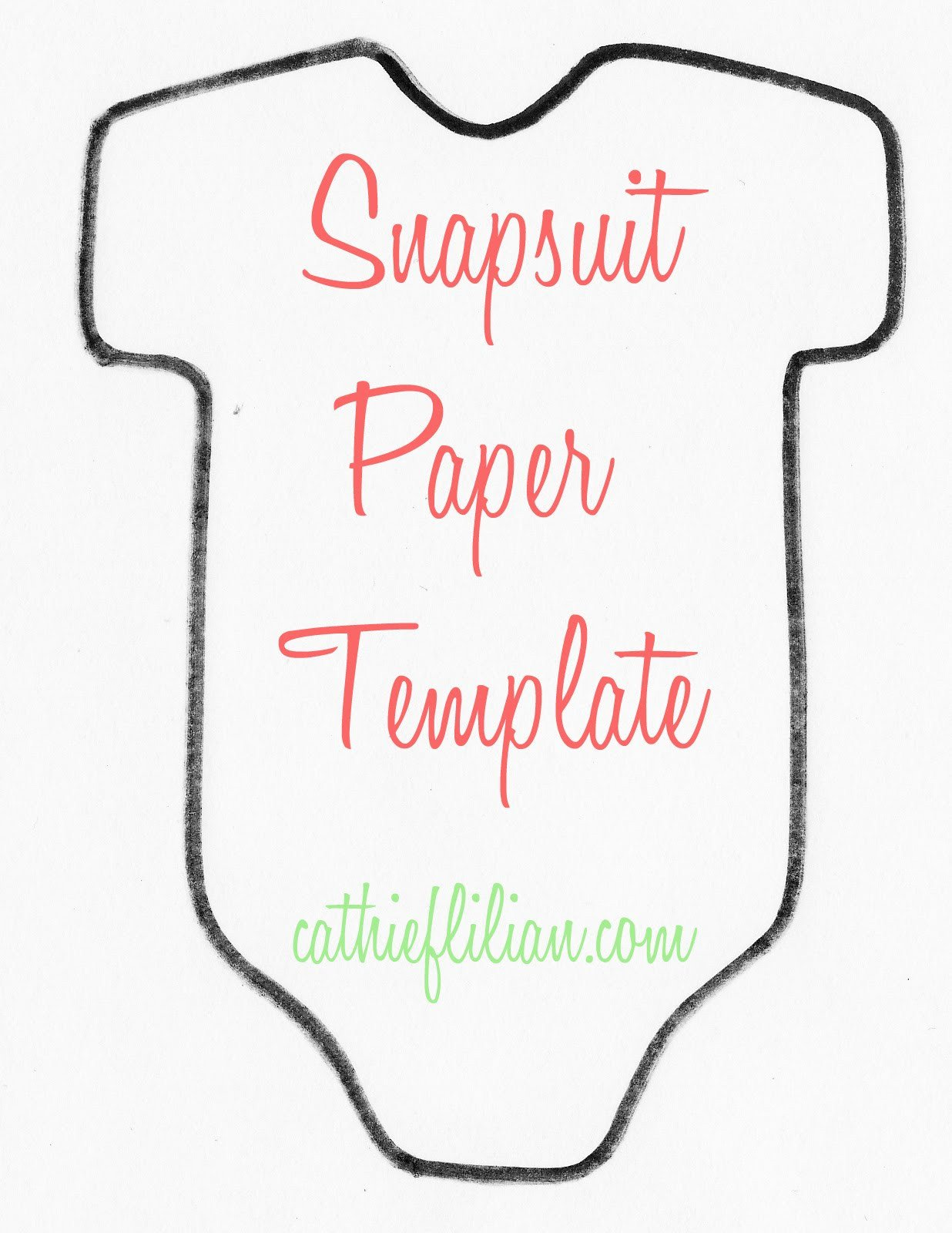 Baby Shower Templates Girl Cathie Filian Snapsuit Decorating Baby Shower Handmade