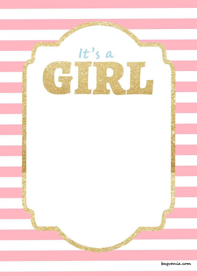 Baby Shower Templates Girl Free Printable Disney Baby Shower Invitations