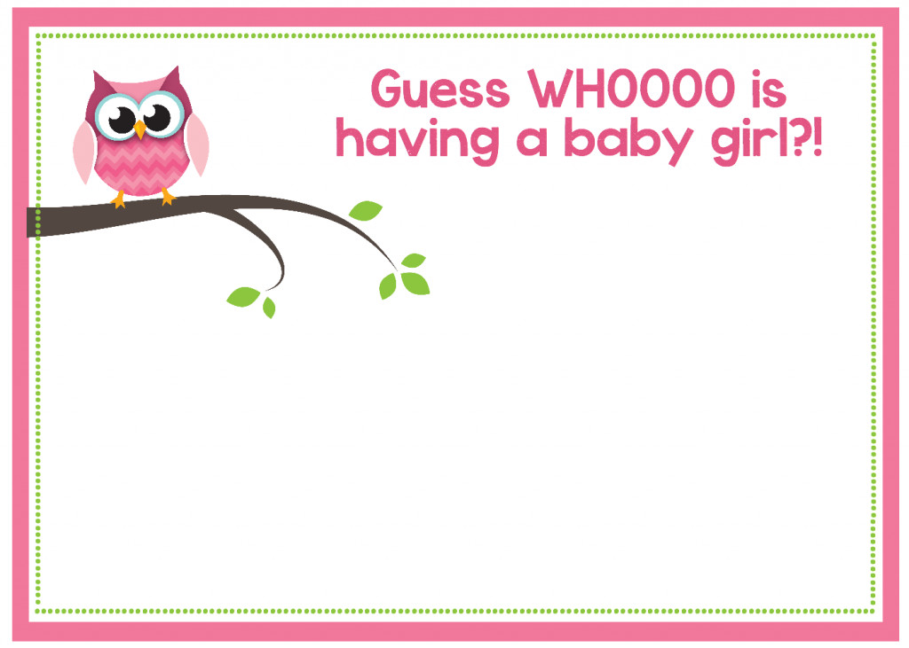Baby Shower Templates Girl Free Printable Owl Baby Shower Invitations & Other