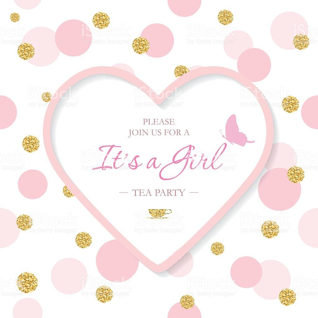Baby Shower Templates Girl Girl Baby Shower Invitation Template Included Laser Cutout