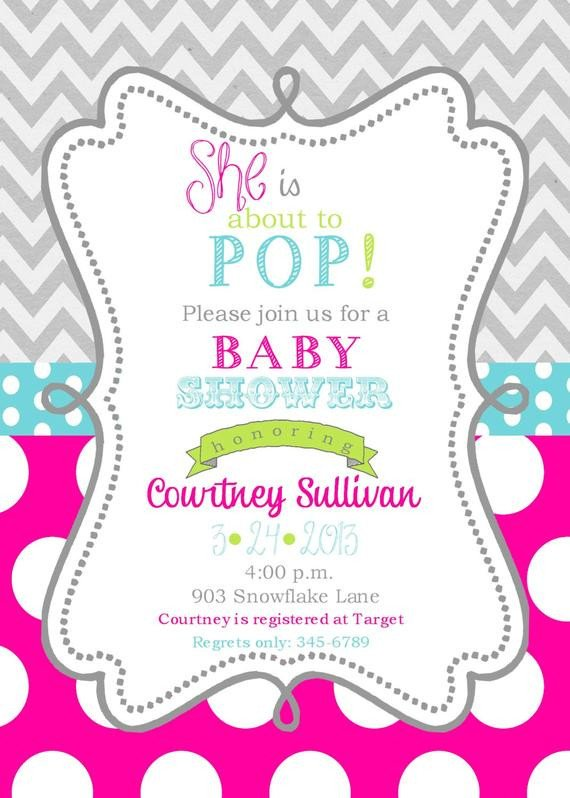 Baby Shower Templates Girl Girls Baby Shower Invitations Digital or Printable File Ready