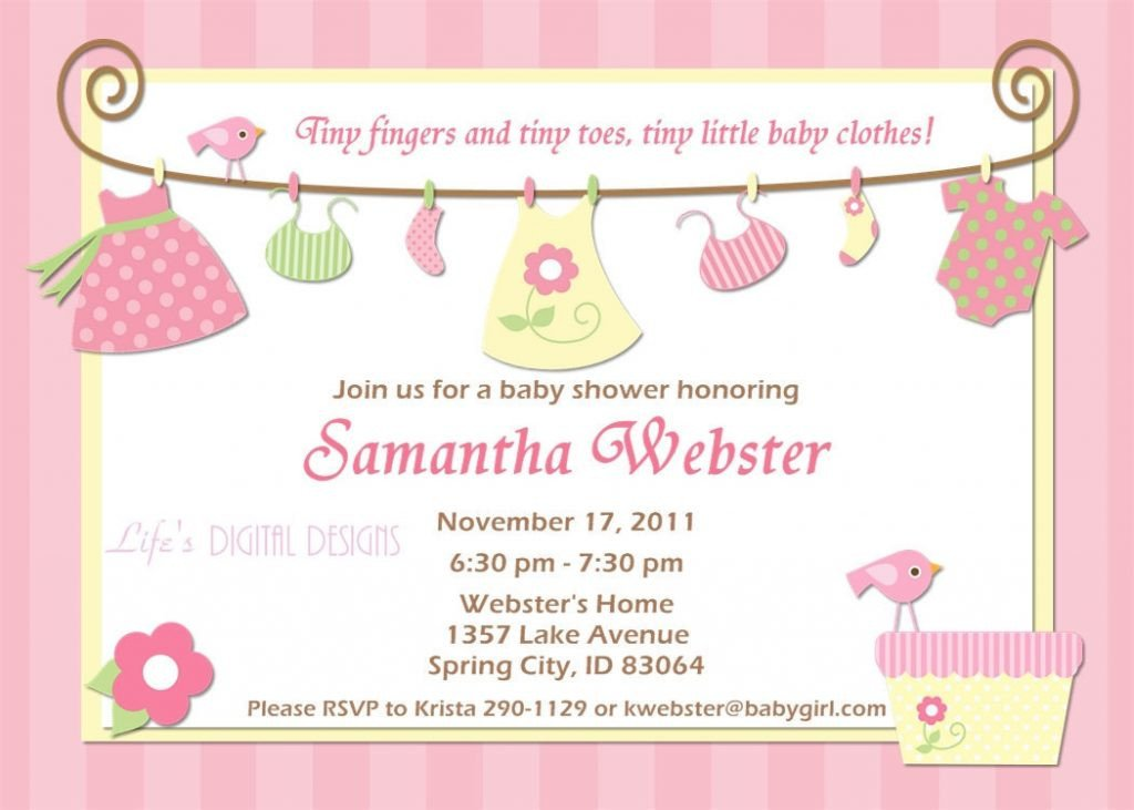 Baby Shower Templates Girl top 10 Baby Shower Invitations original for Boys and Girls