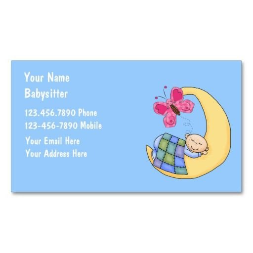 Babysitting Business Card Template 140 Best Images About Babysitting Business Cards On