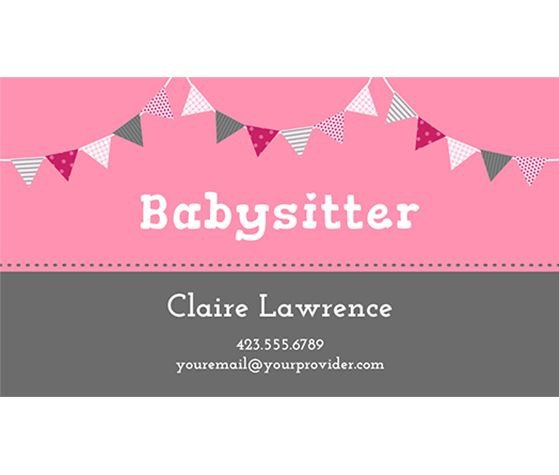 Babysitting Business Card Template 17 Best Images About Babysitting Syd