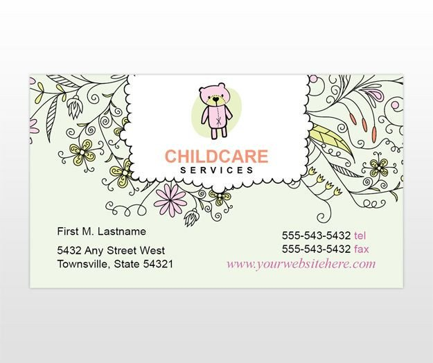 Babysitting Business Card Template 20 Best Child Care Business Cards Images On Pinterest