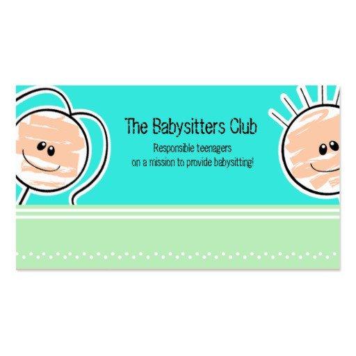 Babysitting Business Card Template Babysitting Business Cards 1 000 Business Card Templates
