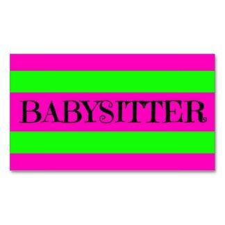 Babysitting Business Card Template Babysitting Business Cards 1 100 Babysitting Business