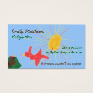 Babysitting Business Card Template Babysitting Business Cards & Templates