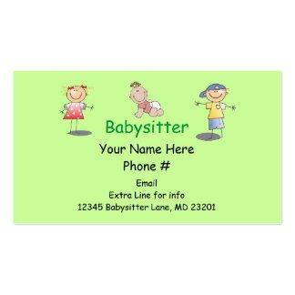 Babysitting Business Card Template Babysitting Business Cards and Business Card Templates