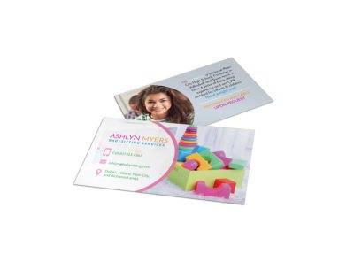 Babysitting Business Card Template Child Care Templates