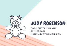Babysitting Business Card Template Customize 24 Babysitting Business Card Templates Online