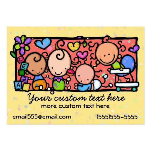Babysitting Business Card Template Daycare toddlers Baby Nursery Babysitting Template