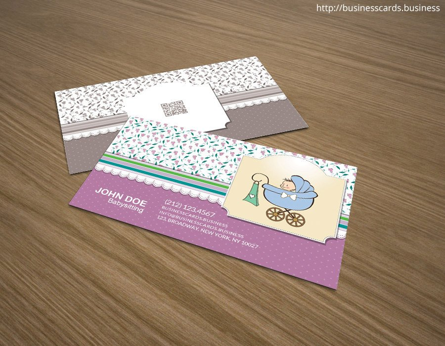 Babysitting Business Card Template Free Babysitting Business Card Template for Shop