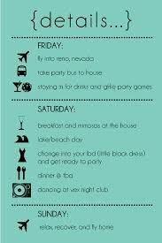 Bachelorette Itinerary Template Free Bachelorette Party Itinerary Template Google Search