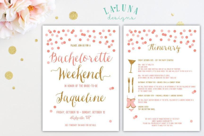 Bachelorette Itinerary Template Free Bachelorette Party Itinerary Template