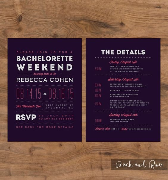 Bachelorette Itinerary Template Free Printable Bachelorette Weekend Invitation and Itinerary