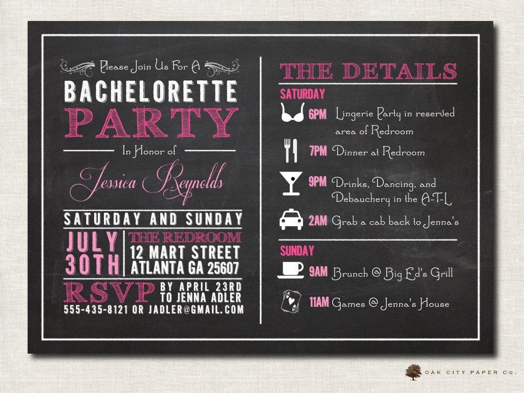 Bachelorette Party Invitation Template Bachelorette Invitation Bachelorette Party Invitation