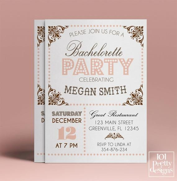 Bachelorette Party Invitation Template Bachelorette Party Invitation Template Printable Bachelorette
