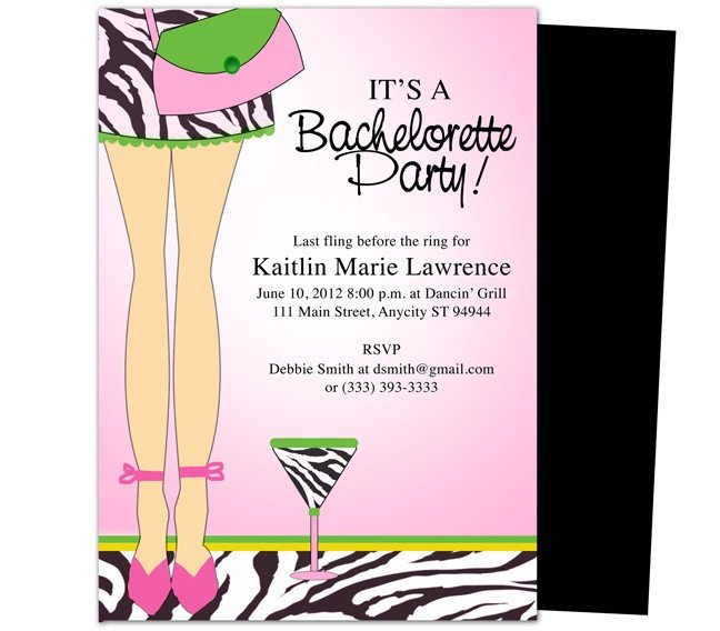 Bachelorette Party Invitation Template Bachelorette Party Invitations Templates Legs