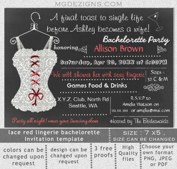 Bachelorette Party Invitation Template Bachelorette Party Printable Invitation